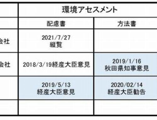 3件の八峰町 能代市 洋上風力発電事業 秋田県